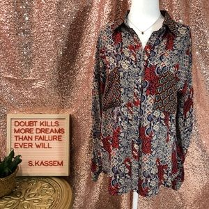 Isabel Lu button down shirt size small
